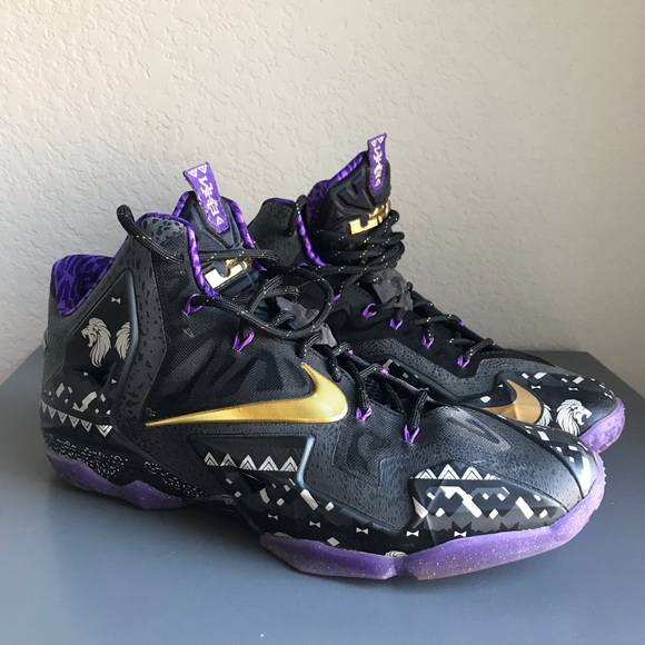another chance 49bd1 d698b Nike LeBron XI BHM Black History Month Sneakers. M 5c0d608faa57191cc83f3aa3
